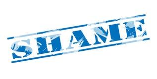 Shame blue stamp. On white background Stock Photo