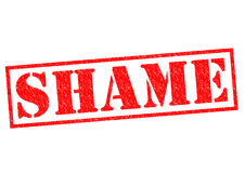 SHAME. Red Rubber Stamp over a white background Stock Photography