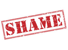 Shame red stamp Royalty Free Stock Photos