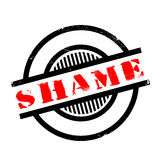 Shame rubber stamp. Grunge design with dust scratches. Effects can be easily removed for a clean, crisp look. Color is easily changed Royalty Free Stock Photo