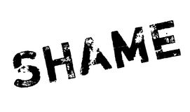 Shame rubber stamp. Grunge design with dust scratches. Effects can be easily removed for a clean, crisp look. Color is easily changed Stock Photography