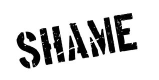 Shame rubber stamp. On white. Print, impress overprint Royalty Free Stock Photo