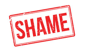 Shame rubber stamp Stock Image
