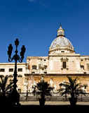 The Shame Square. Palermo - The shame square and fontain Royalty Free Stock Photography