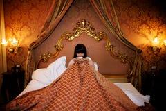 Shamed girl royalty free stock image