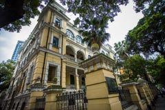 Shamian-Park-historische Gebäude Stockfotografie