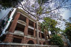 Shamian-Park-historische Gebäude Lizenzfreie Stockbilder