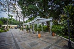 Shamian parkerar historiska byggnader Royaltyfria Foton