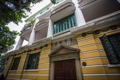 Shamian parkerar historiska byggnader Arkivbilder