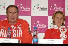 Shamil Tarpishchev et Svetlana Kuznetsova Photo libre de droits