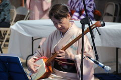 Shamisen player Stock Photos