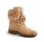 Shammy fur  boot Stock Images