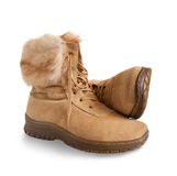 Shammy fur  boots Royalty Free Stock Photo