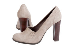 Shammy high-heel woman shoes Royalty Free Stock Photography