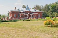 Shamordino. House of philanthropist S. Perlov. Old building of the monastery during the summer Stock Photo