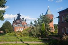 Shamordino Monastère de femelle de Kazan Amvrosiyevskaya Cathédrale de Kazan Photo stock