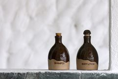 Shampoo and Body lotion Royalty Free Stock Images