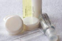 Shampoo body lotion. Toiletries stock photo