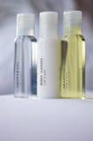 Shampoo body lotion. Toiletries stock photography