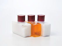 Shampoo bottle on a white background Stock Image