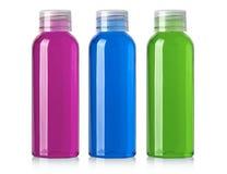 Shampoo bottle on a white Stock Images