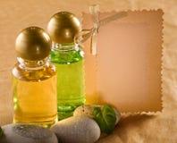 Shampoo bottles Stock Images
