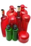 Shampoo bottles Royalty Free Stock Images