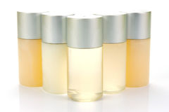 Shampoo Bottles Royalty Free Stock Photography