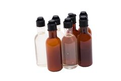 Shampoo And Conditioner. Bottles with shampoo and conditioner; Isolated, Path included royalty free stock photo