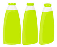 Shampoo containers isolated Stock Image