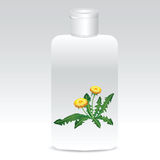 Shampoo with dandelions Royalty Free Stock Photography