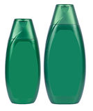 Shampoo dark green containers isolated Royalty Free Stock Image