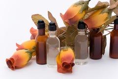 Shampoo en Veredelingsmiddel met bloem Stock Fotografie