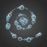 Shampoo frame of realistic water bubbles Royalty Free Stock Photo