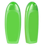 Shampoo green containers isolated Stock Images