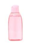 Shampoo in pink plastic bottle Stock Image