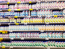Shampoo shelves in store Stock Image