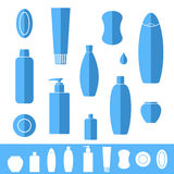 Shampoo. Soap. Icon set Royalty Free Stock Images