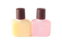 Shampoo and soap plastic bottle isolated Royalty Free Stock Images