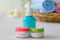 Shampoo and spa salz Royalty Free Stock Photo