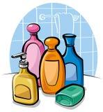 Shampoo und Seife Stockfoto