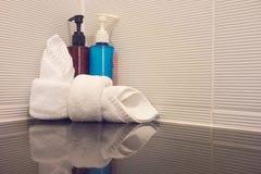 Shampoo und Seife Lizenzfreies Stockfoto