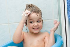 Shampooing Royalty Free Stock Image