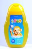 Shampooing de bébé d'isolement sur le blanc Image stock