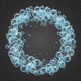 Shampookader van realistische waterbellen Royalty-vrije Stock Afbeelding