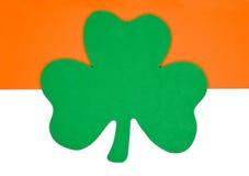 Shamrock. A green foam shamrock in Irish flag colors Royalty Free Stock Photo