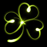 Shamrock. Or clover icon on black background Royalty Free Stock Photo