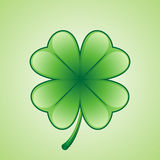 Shamrock 4. Illustration of a clover/shamrock for st patrick's day Royalty Free Stock Images