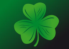 Shamrock. Vector shamrock on a green background Stock Photography