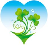 Shamrock. Decorative Patrick background with shamrock Royalty Free Stock Image
